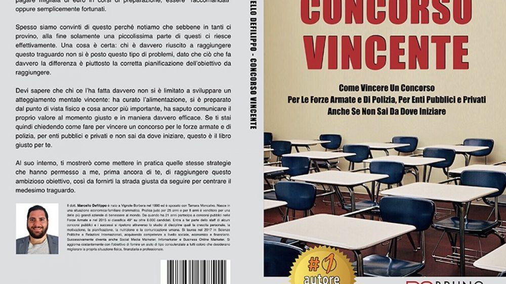 """Marcello Defilippo: Bestseller """"Concorso Vincente"""" edito da Bruno Editore"""
