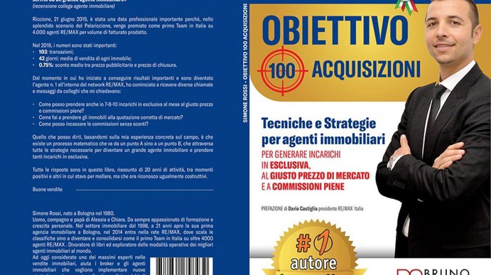 """Simone Rossi: bestseller il suo libro """"Obiettivo 100 Acqusizioni"""""""