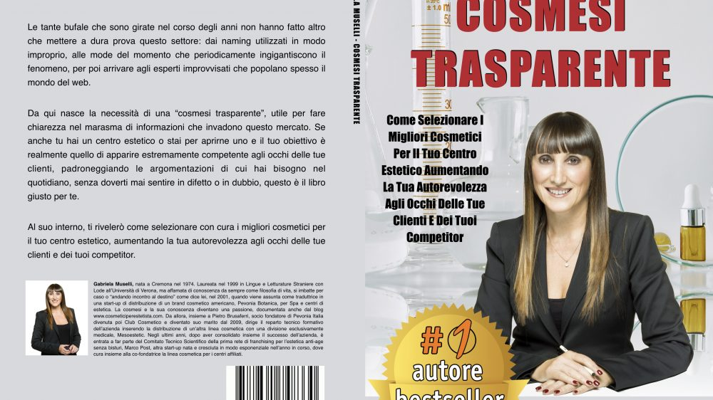"Gabriela Muselli: Bestseller ""Cosmesi Trasparente"" edito da Bruno Editore"